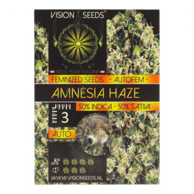 🌿 Vision Seeds Wietzaadjes Auto amnesia haze Smartific 2014186/2014185