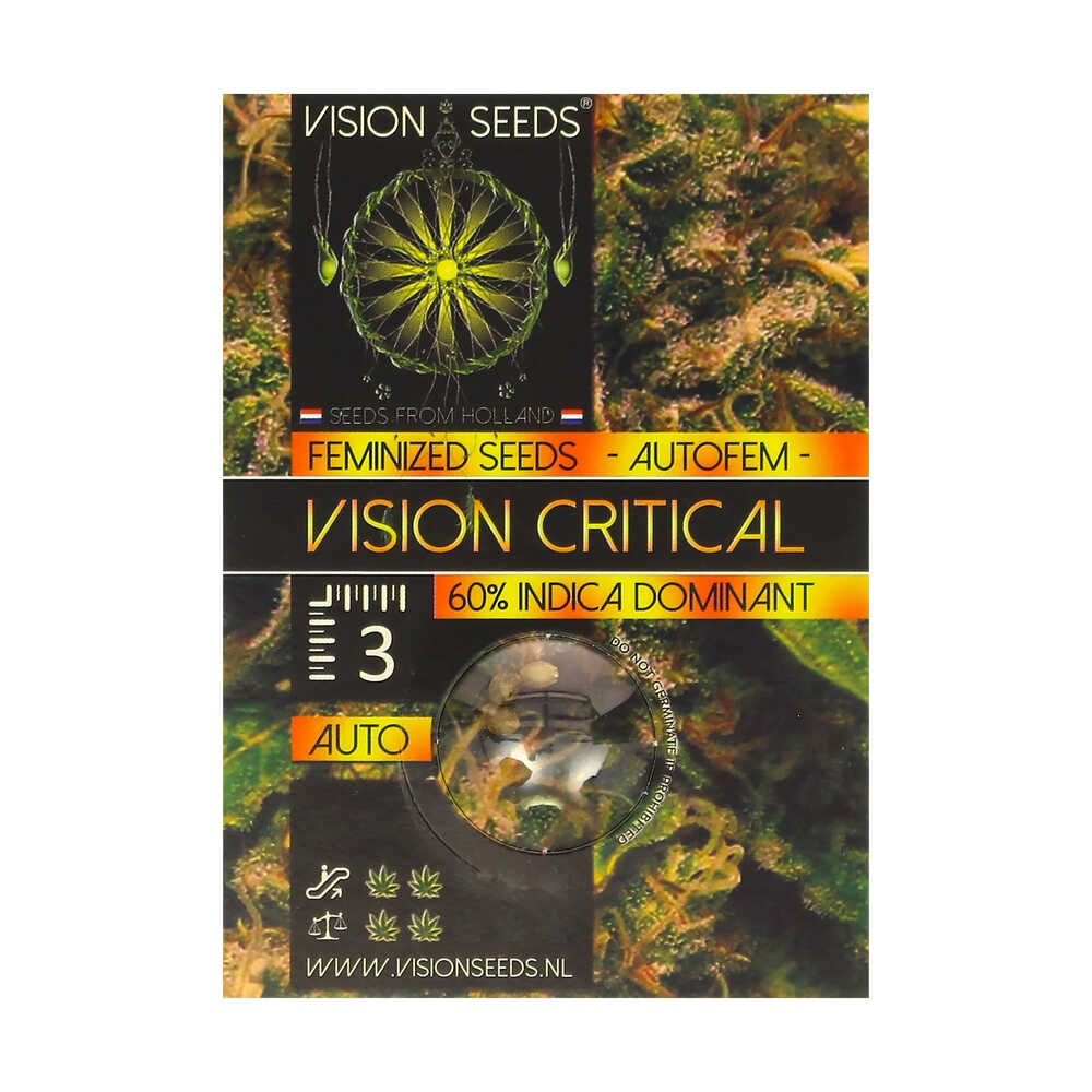 🌿 Vision Seeds Wietzaadjes Auto VISION CRITICAL Smartific 2014206/2014205