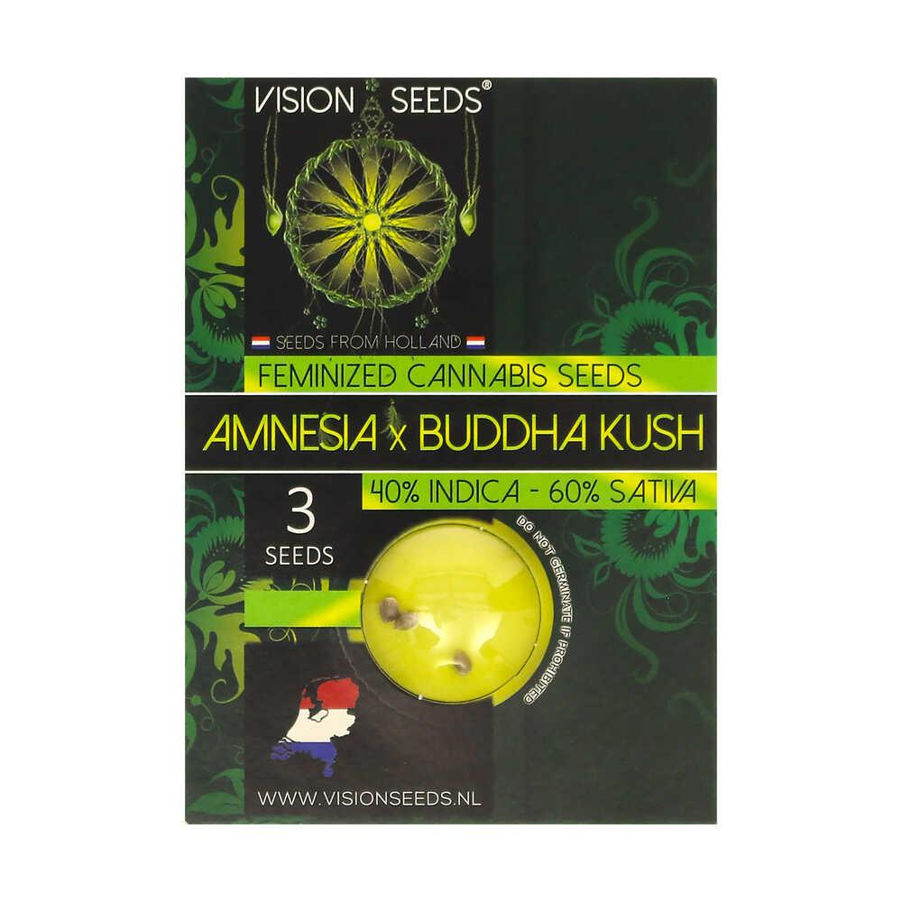 ? Vision Seeds Gefeminiseerd Wietzaadjes AMNESIA X BUDDHA KUSH Smartific 2014222/2014221