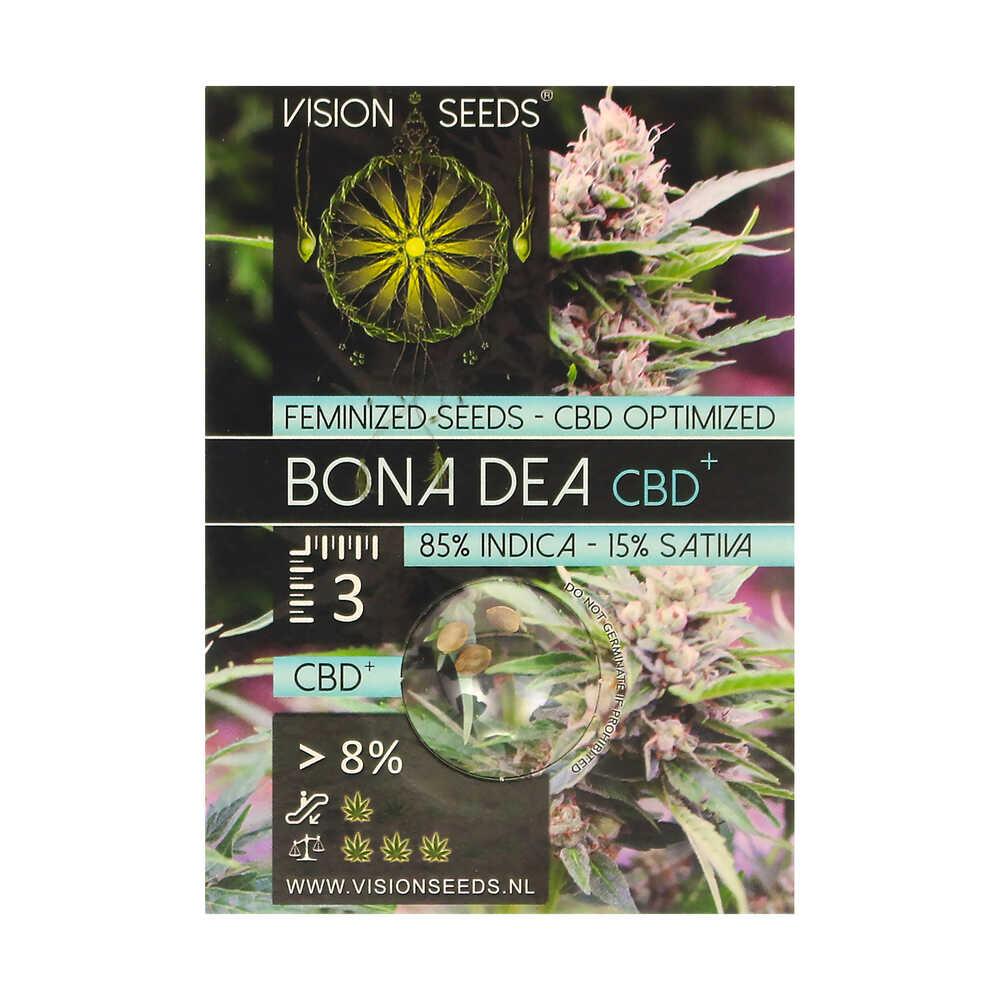 🌿 Vision Seeds Gefeminiseerd Wietzaadjes BONA DEA (CBD+) Smartific 2014228/2014227
