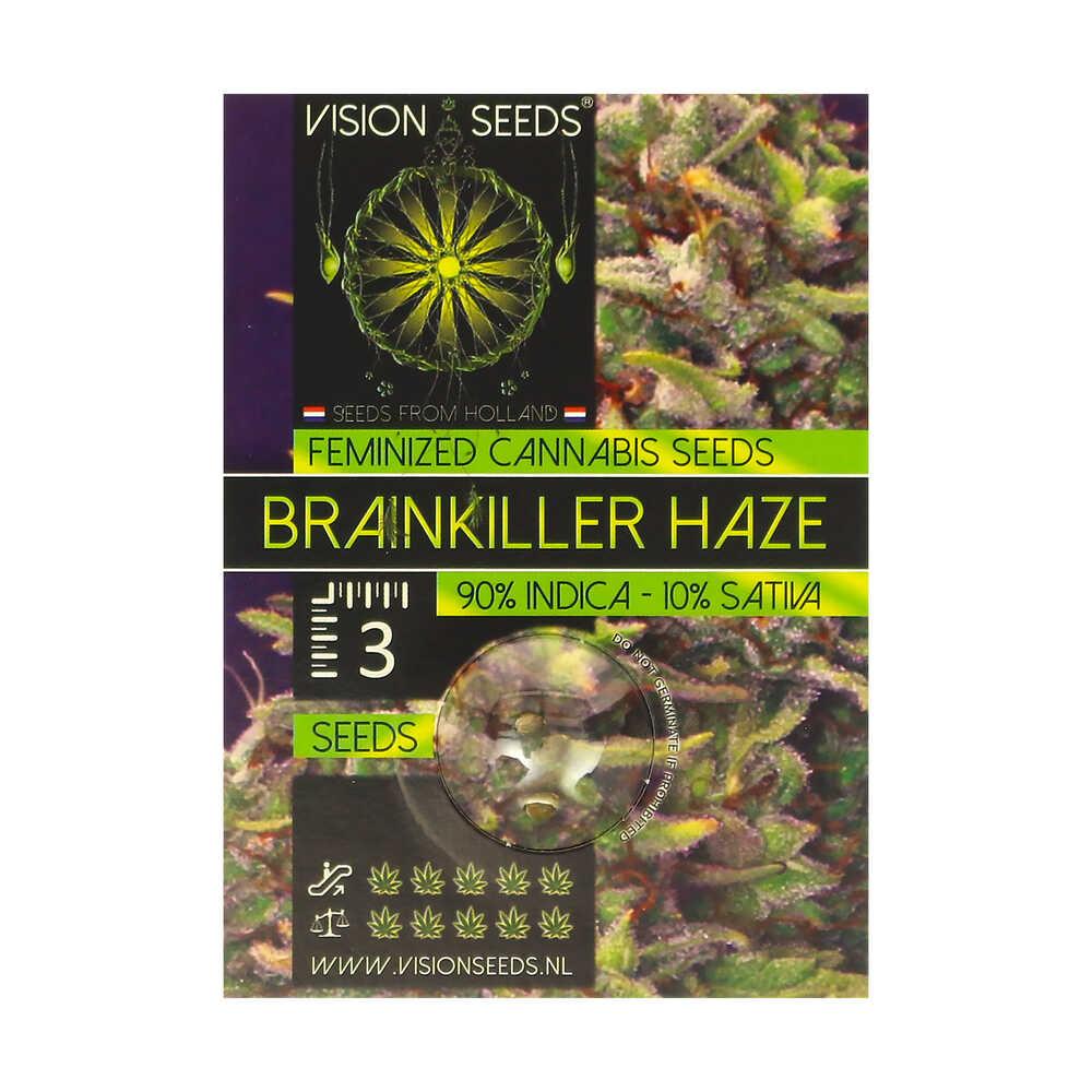 🌿 Vision Seeds Gefeminiseerd Wietzaadjes BRAINKILLER HAZE Smartific 2014230/2014229