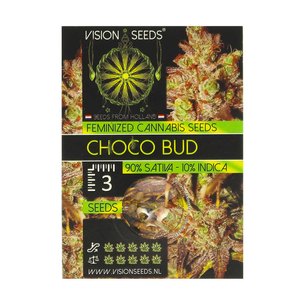 🌿 Vision Seeds Gefeminiseerd Wietzaadjes CHOCO BUD Smartific 2014236/2014235