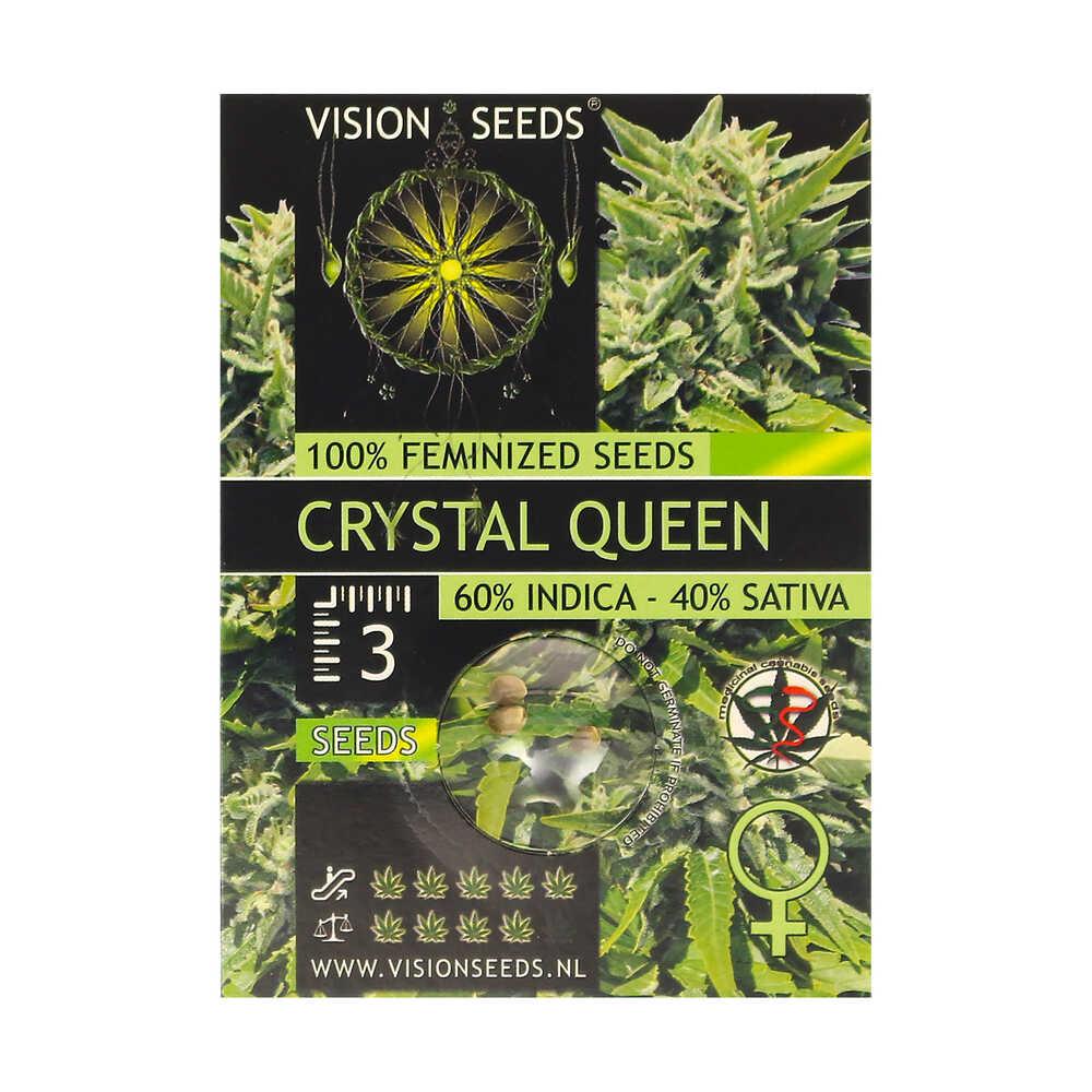 🌿 Vision Seeds Gefeminiseerd Wietzaadjes CRYSTAL QUEEN Smartific 2014240/2014239