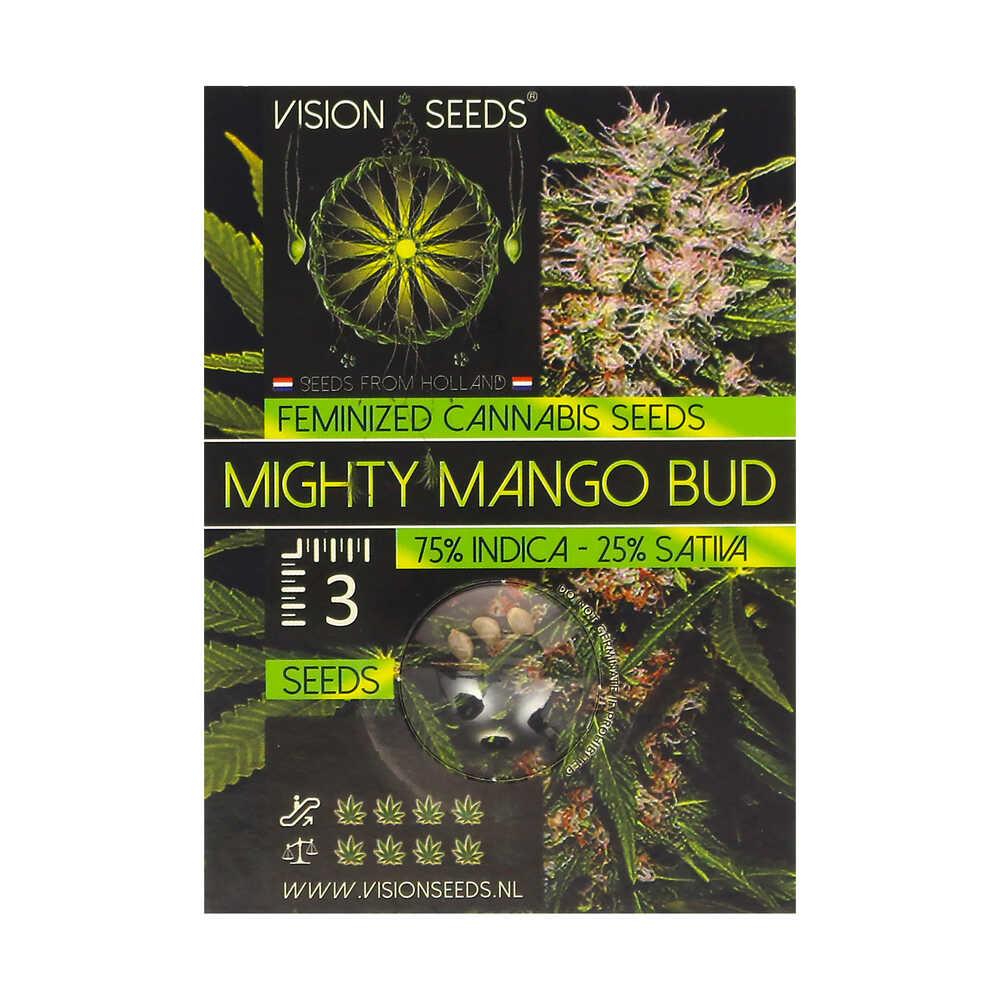 🌿 Vision Seeds Gefeminiseerd Wietzaadjes MIGHTY MANGO BUD Smartific 2014254/2014253