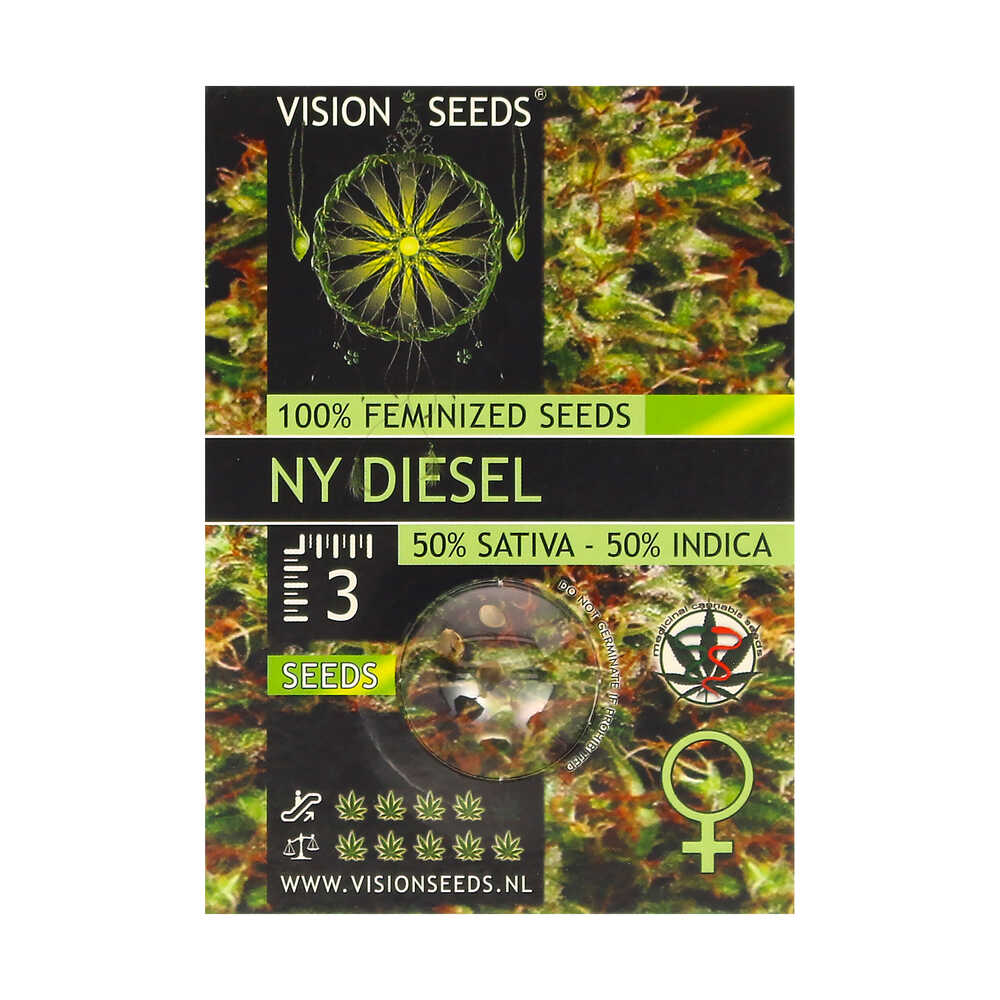 🌿 Vision Seeds Gefeminiseerd Wietzaadjes NY DIESEL Smartific 2014260/2014259