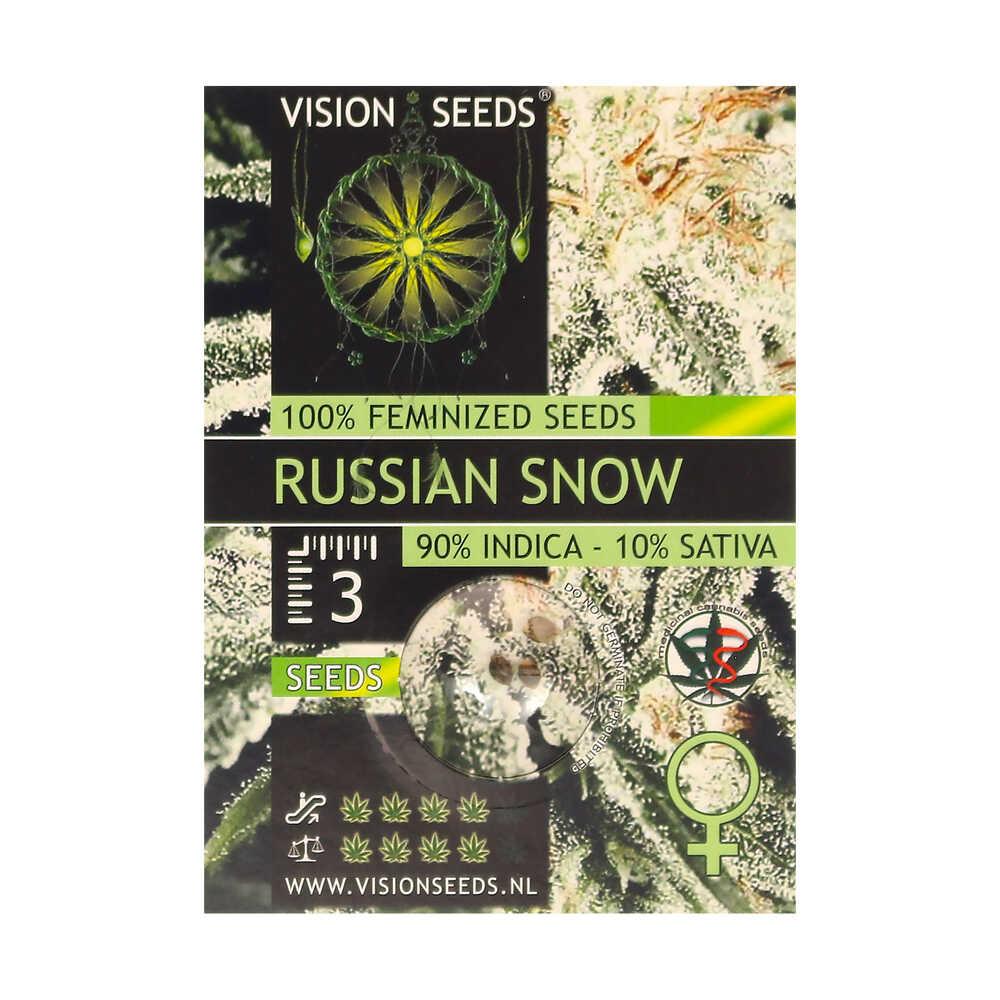 🌿 Vision Seeds Gefeminiseerd Wietzaadjes RUSSIAN SNOW Smartific 2014264/2014263