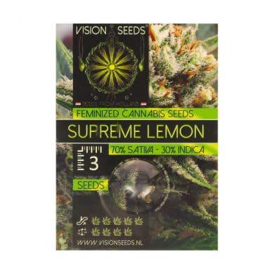 🌿 Vision Seeds Gefeminiseerd Wietzaadjes SUPREME LEMON Smartific 2014270/2014269