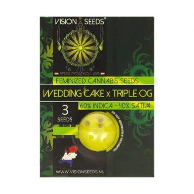 🌿 Vision Seeds Gefeminiseerd Wietzaadjes WEDDING CAKE X TRIPLE OG Smartific 2014280/2014279