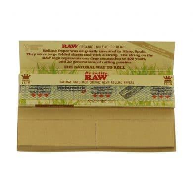 💨 Raw Organic Hemp Connoisseur King Size Slim Lange Vloei met Tips Smartific 716165177586