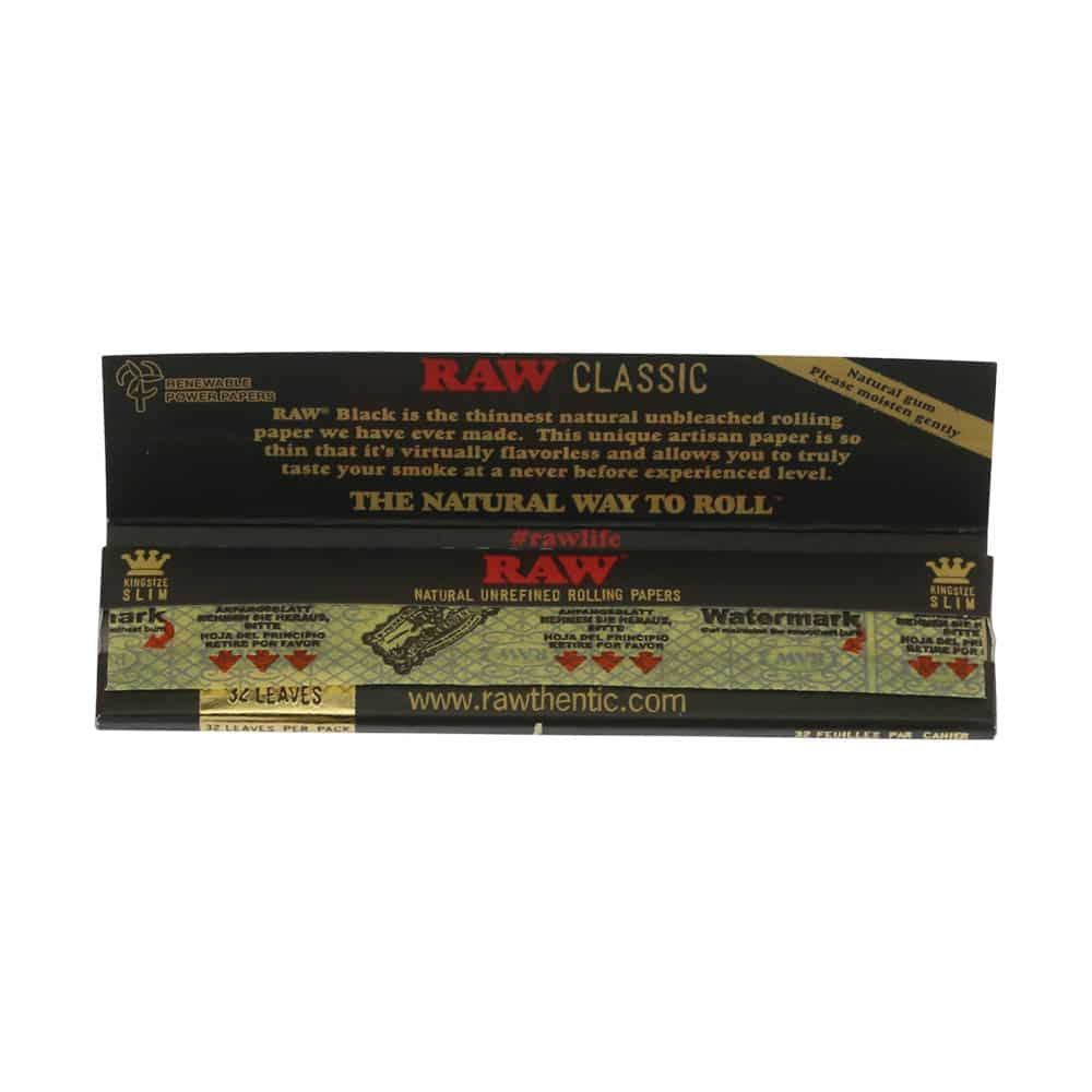 💨 Raw Black King Size Slim Lange Vloei Smartific 716165250326