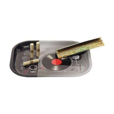 🧐 DJ Draaitafel Klein metalen dienblad Smartific 777791173236