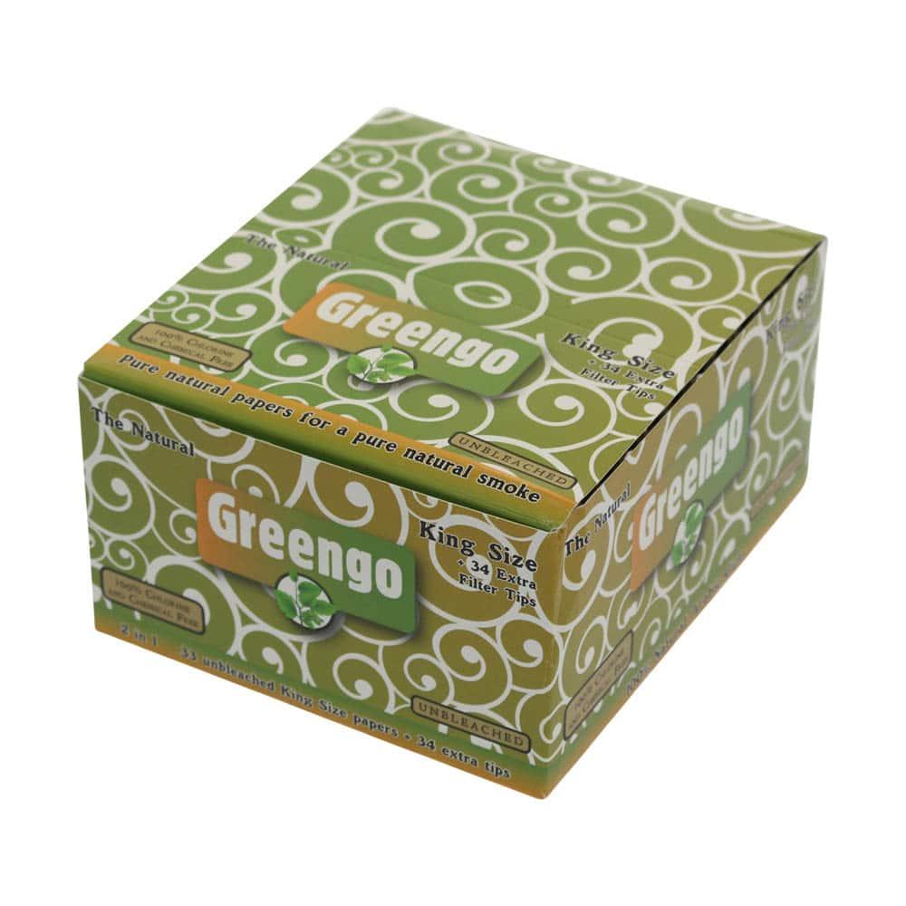 💨 Greengo King Size Lange Vloei 2in1 met tips Smartific 8595134501278