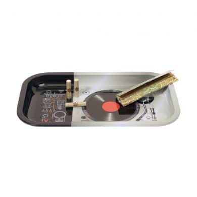 🧐 DJ platenspeler grote metalen dienblad Smartific 8718274713510