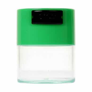 🧐 Kleine Tightvac Stashbox Clear met groene dop Smartific 609465409658