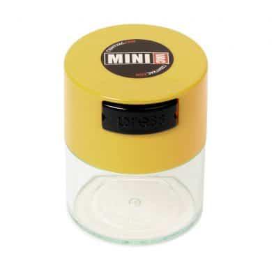 🧐 Kleine Tightvac Stashbox Clear met gele dop Smartific 609465409696