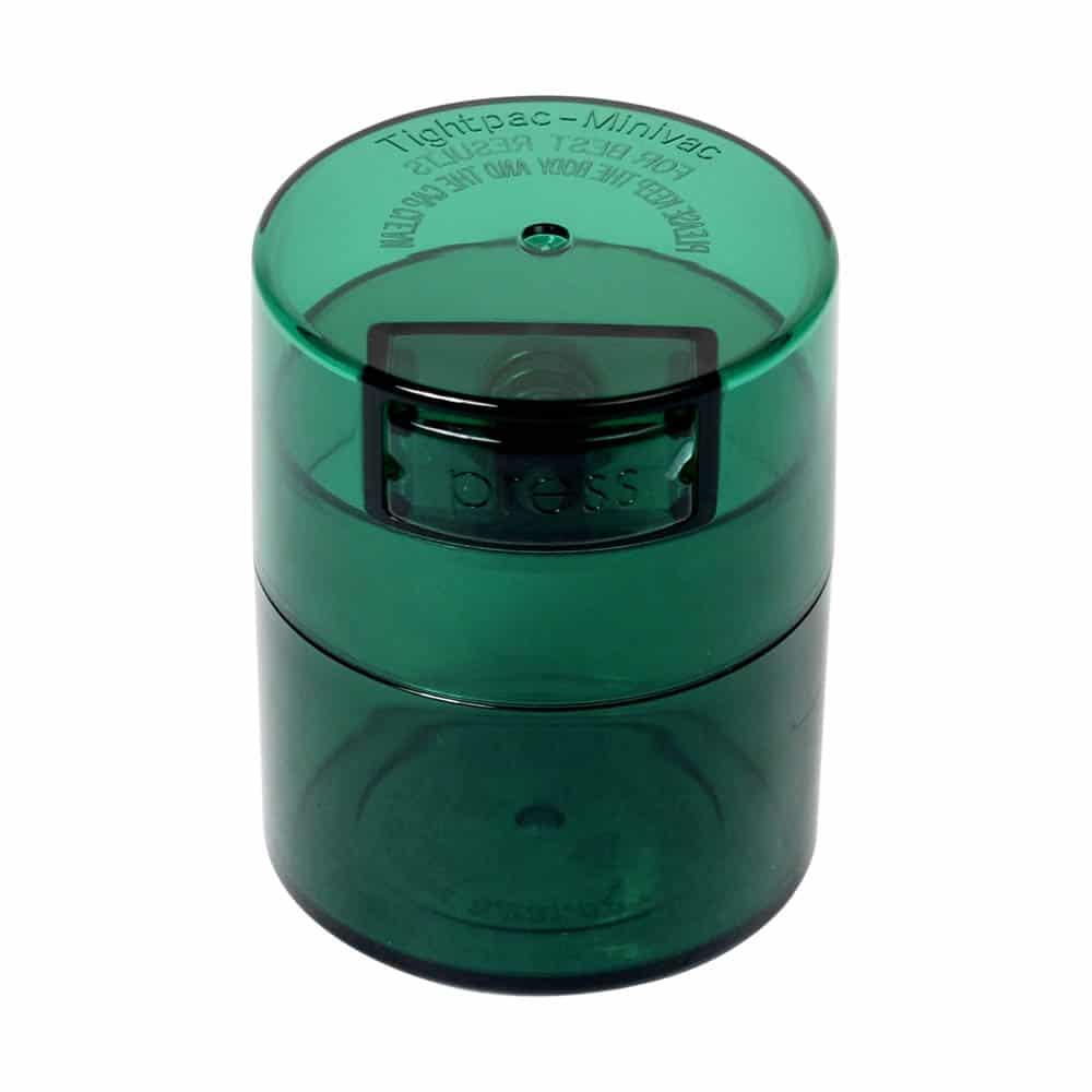 🧐 Kleine Tightvac Stashbox groene tint met groene dop Smartific 609465409719