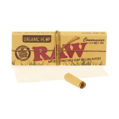 💨 Raw Organic Hennep Connoisseur 1¼ vloei en tips Smartific 716165176138