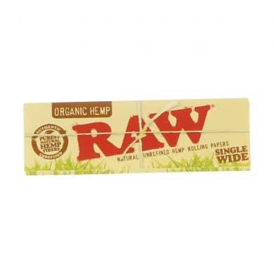 ? Raw Organic Hennep Single Wide vloei Smartific 716165179207