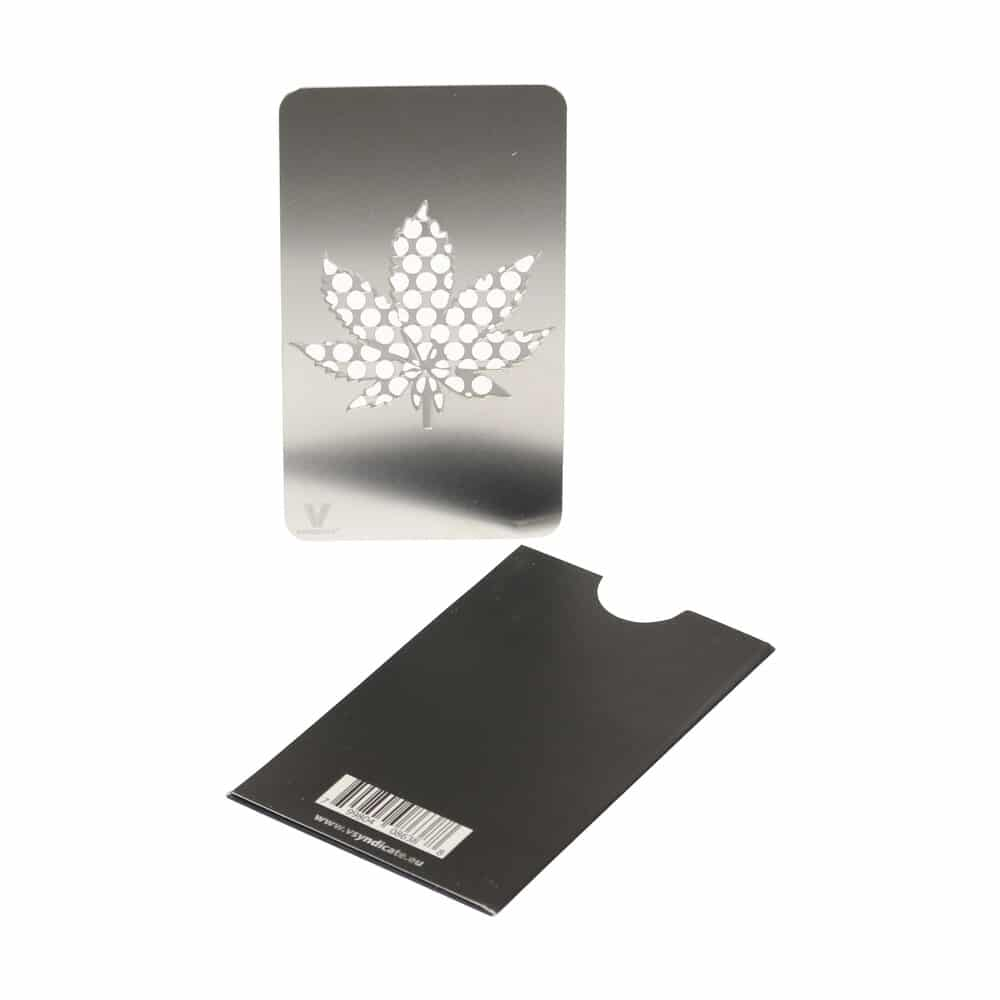 🧐 Silver Leaf Credit Card Grinder Smartific 799804086388