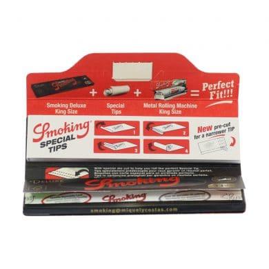 💨 Smoking Deluxe Black King Size en Tips Lange Vloei Smartific 8414775013066