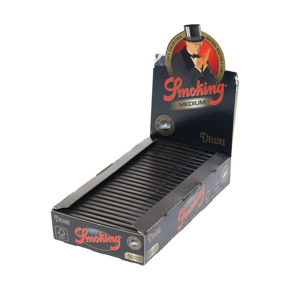 💨 Smoking Deluxe Zwart Medium 1¼ Lange Vloei Smartific 84190819