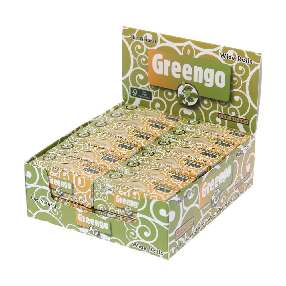 💨 Greengo ongebleekte brede vloeipapier rollen Lange Vloei Smartific 8595134501292
