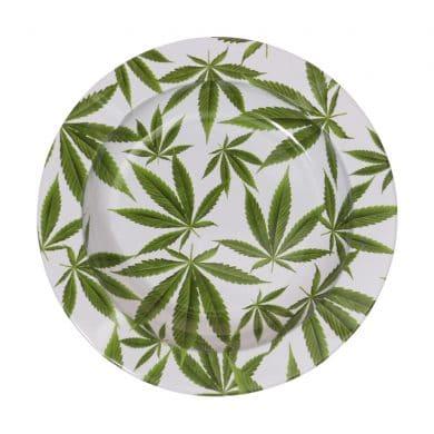 🧐 Metalen asbak met cannabisbladeren Smartific 8718053643557