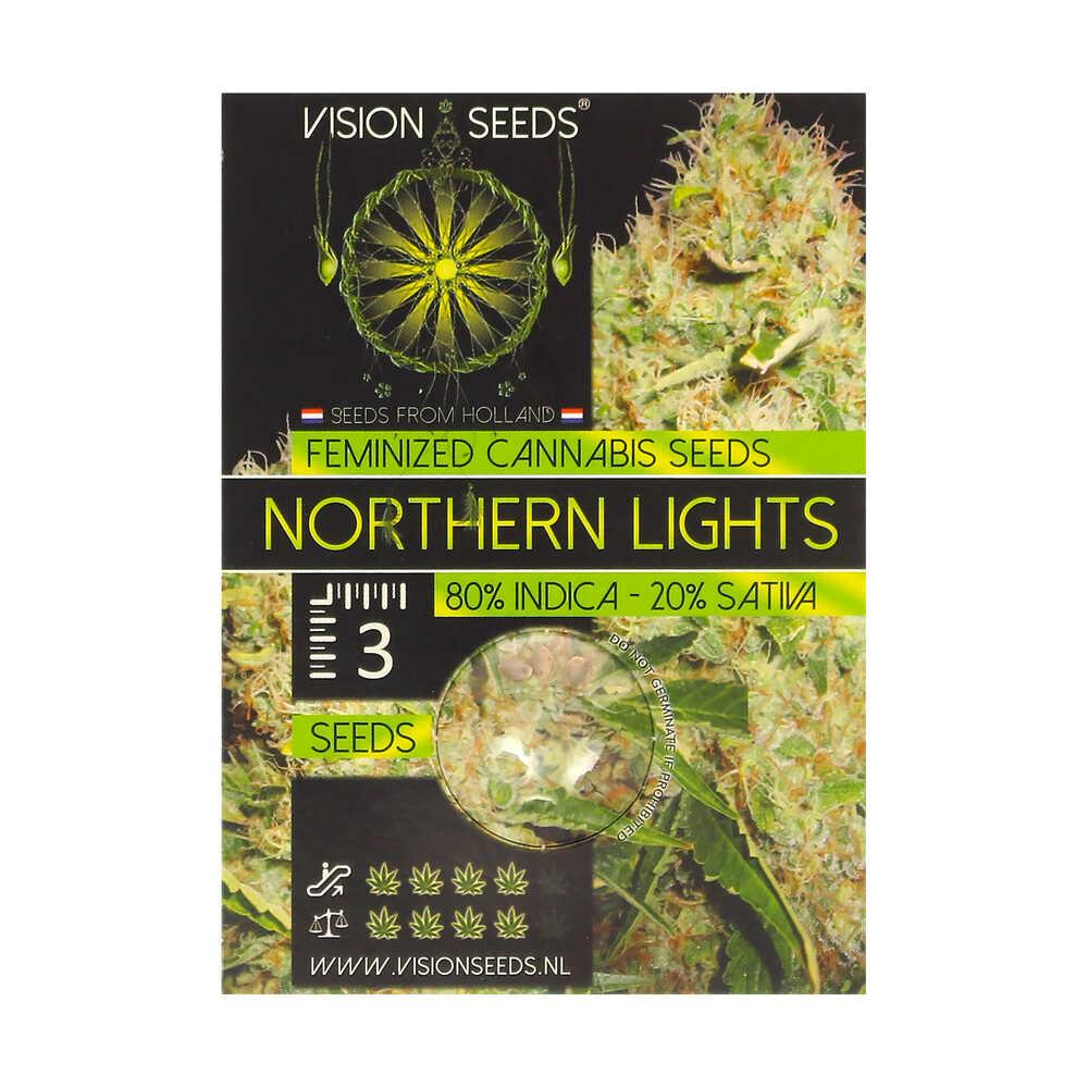 🌿 Vision Seeds Gefeminiseerd Wietzaadjes NORTHERN LIGHTS Smartific 2014258/2014257