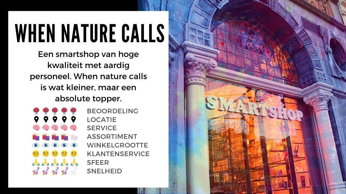 When Nature Calls Smartshop ansterdam review smartific online webshop